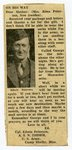 World War II - Edwin Peterson - newspaper clipping