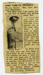 World War II - Donald Mason - newspaper clipping