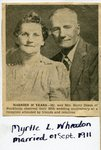 Newspaper clipping-  Harry Dixon & Myrtle  L Wheaton - 30th wedding anniversary