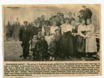 Newspaper clipping - Group of people