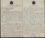 World War II letter from Clifford R. Peterson