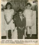 Newspaper Clipping - First Communion at St. Theresa's Church - Christina Murphy, Simon Sjostedt, April Jackson