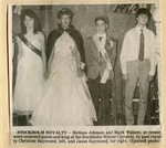 Newspaper Clipping -  Winter Carnival Royalty - Melissa  Johnson & Mark Wakem.