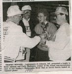 Newspaper Clipping - Trophy Winner at the Madawaska River Run - Al Johnson, David Sterris, Patty Sheltmire & Brent Johnson