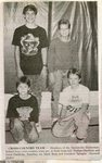 Newspaper Clipping -  Stockholm Elementary Cross Country team - Front: Nathan Ouellette & Jason Ouellette. Back: Mark Britt & Jonathan Sprague