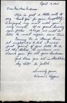 World War II letter from Warren C Heggern