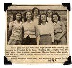Stockholm High School - Honor parts - 1943. Fern Dubay, Elsie Sjostedt, Mariam Baxter, Anita Plourde & Jo Ann Carlstrom