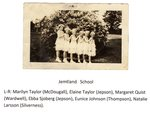 Jemtland School, Daisy Gals. L-R: Marilyn Taylor (McDougall), Elaine Taylor (Jepson), Margaret Quist (Wardwell), Ebba Sjoberg (Jepson), Eunice Johnson (Thompson) & Natalie Larsson (Silverness).