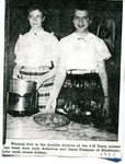 Newspaper Clipping - 4-H winners, Judy Anderson & Joyce Forsman