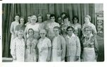 First Baptist Church - 75th Anniversary - 1979: Front Row - Myrtle Peterson, Crystal Forbes, Ruth Anderson, Florentine Quist, Verna Tall, Elvie Johnson; Middle Row - Dorcas Ketch, Lillian Forsman, Mable Quist, Betty Grant, Linda Nasman, Millie Forbes; Back Row - Sylvia Mattson, Albertine Jepson, Margaret Wardwell, Carolyn Zeigler, Hildur Doyle, Janet Burtchell.