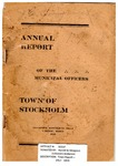 Stockholm, ME Town Report - 1917 - 1918