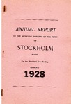 Stockholm, ME Town Report - 1927  - 1928