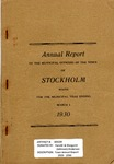 Stockholm, ME Town Report - 1929 - 1930