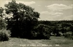 Scene of Surry Bay, Surry, Maine Postcard