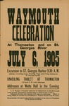 Weymouth Celebration : At Thomaston and on St. Georges River : July 6, 1905: