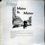Maine by Motor, 1932 by Maine Development Commission