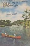 Maine The Land of Remembered Vacations, 1948 by Maine Publicity Bureau