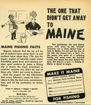 The One That Didn't Get Away to Maine by Maine Development Commission and Maine Publicity Bureau