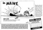 In Maine Your Guide will Explain that When Fishing From a Canoe it's the Fish that Does the Jumping by Maine Development Commission and Maine Publicity Bureau