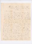 Letter to Edward True, Sr., October 25, 1861