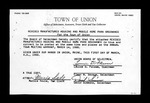 Town of Union Revised Mobile Home Park Ordinance 1988