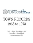 Union Maine Town Records 1968-1973