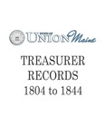 Town of Union Treasurer Records 1804-1844