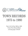 Union Maine Town Records 1975-1980