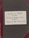 Secretaries' Reports of the Unitarian Reading Club (URC), February 1888 - January 1893