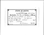 Certificate of Intentions of Marriage of F.J. Gatchell and M.E. Gray