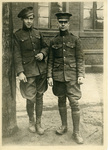 Two Soldiers Standing in a Street at Koblenz, Germany