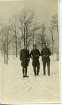 Alfred H. Washburn with Two Soldiers in the Snow