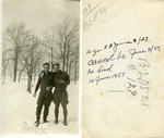 Alfred H. Washburn and Fellow Soldier in the Snow
