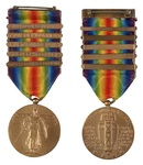 Alfred H. Washburn's Victory Medal with Battle Clasps by United States Army
