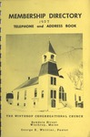 1957 Membership Directory : Winthrop Congregational Church by Winthrop Congregational Church