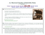 A Whitefield, Maine timeline - 1851 - 1900 by David Chase
