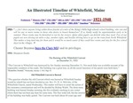 A Whitefield, Maine timeline - 1921 - 1940