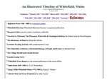 A Whitefield, Maine timeline - References by David Chase