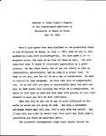 Remarks of James Russell Wiggins at Commencement Exercises at University of Maine at Orono, May 15, 1982 by James Russell Wiggins
