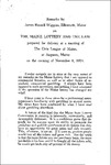 Maine Lottery and the Law : Remarks by James Russell Wiggins at the Civic League of Maine, November 8, 1974 by James Russell Wiggins