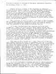 Statement of James Russell Wiggins Prepared for Hearing of Maine Legislators Committee on Judiciary, March 11, 1976 by James Russell Wiggins