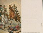 Horse Back Riders Charging over Fallen French Soldier