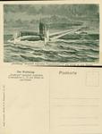 Strassburg Shoots at English Torpedoboat and Makes it Sink.