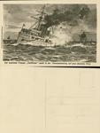 "The English cruiser ""Pathfinder"" Hits a German Mine"
