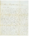 Letter to Maryann Wright, May 21,1861