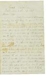 Letter to Maryann Wright, October 27, 1861