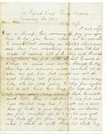 Letter to Maryann Wright, January 24, 1863 by Horace Wright