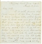 Letter to Maryann Wright, March 13, 1863 by Horace Wright