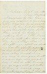 Letter to Horace from Maryann Wright, April 13, 1863 by Maryann Wright