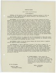 Copy of proclamation from Governor Carl E. Milliken regarding the registration of aliens, April 7, 1917